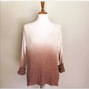 Loose knit ombre sweater